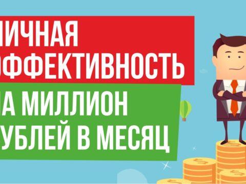 личная эффективность на миллион рублей в месяц Евгений Гришечкин